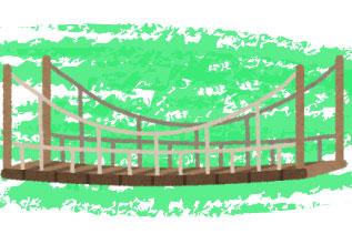 吊り橋のイラスト
