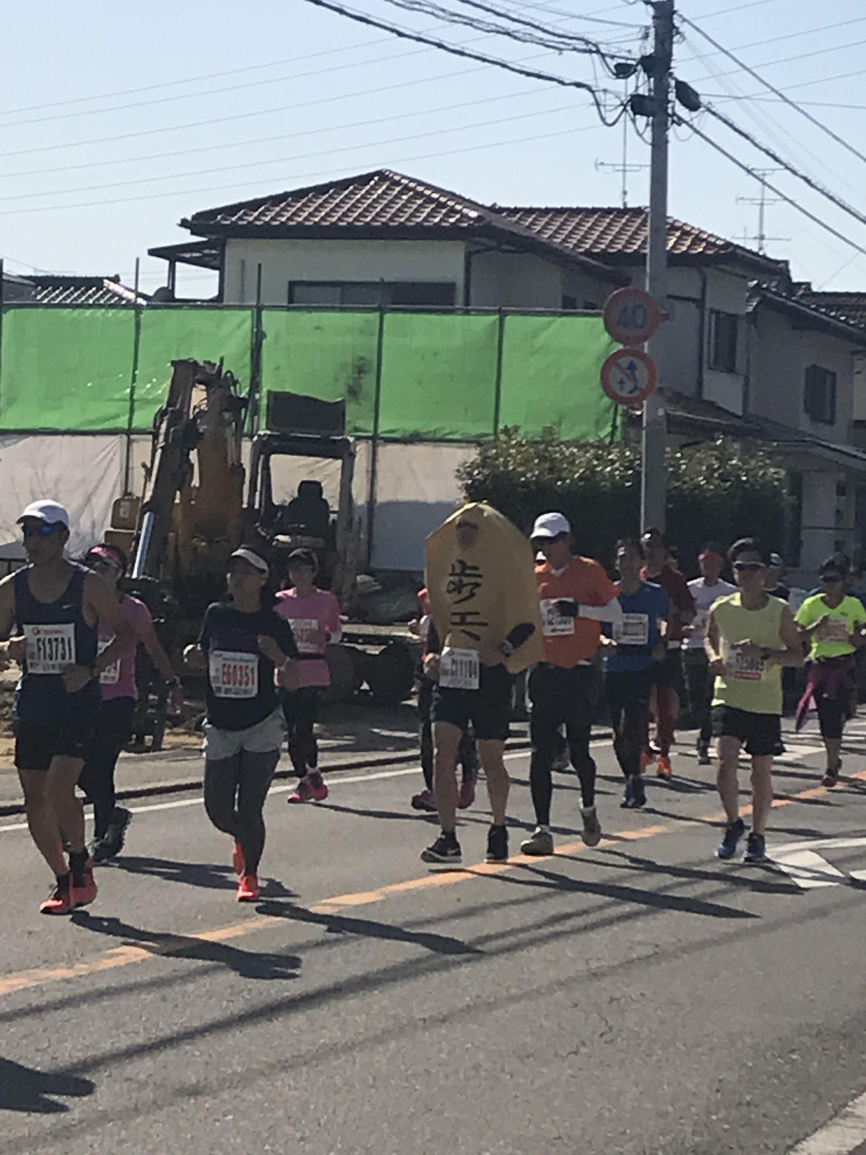 アクアラインマラソン2018将棋の歩コス