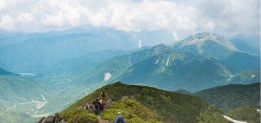 稜線の写真