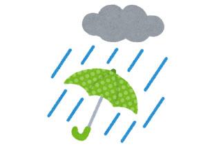 雨と傘のイラスト