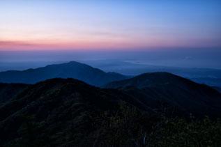 丹沢 大山の夕暮れ