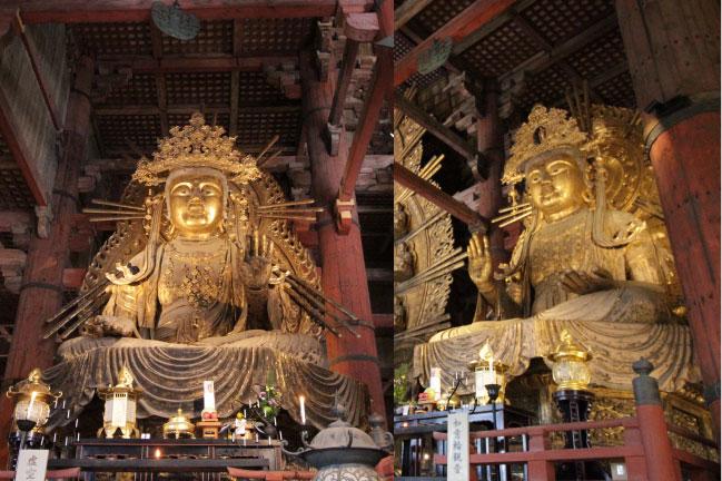 東大寺 大仏の左右の像