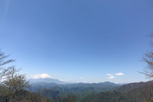 鍋割山 山頂風景の富士山