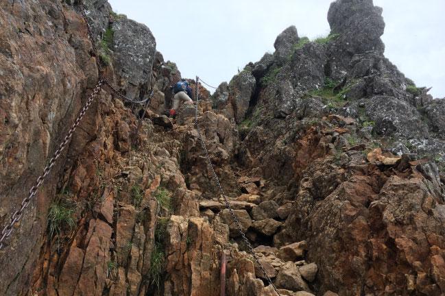八ヶ岳 赤岳の鎖場