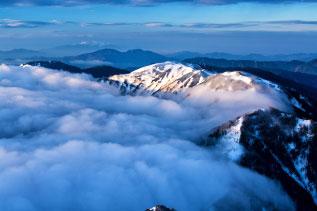 北アルプス蝶ヶ岳の写真