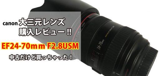キャノンEF24-70mmF2.8LUSMレンズ購入レビューTOP画像