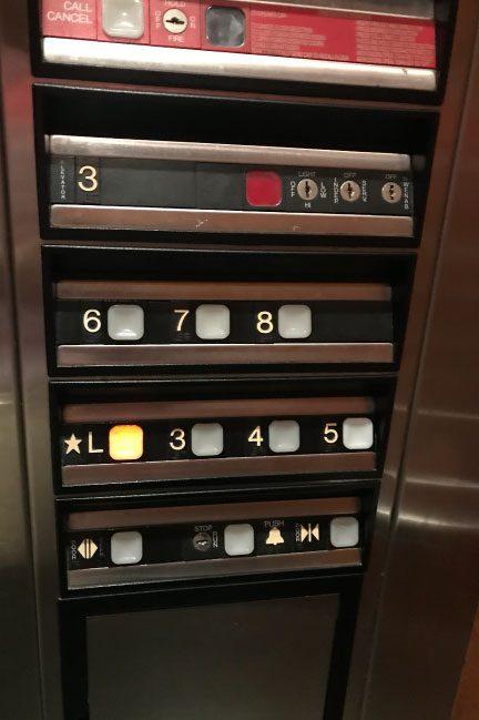 ロイヤルオーキッドホテルグアムのエレベーター