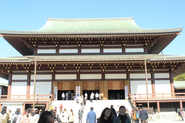 2019年11月30日撮影。成田山新勝寺