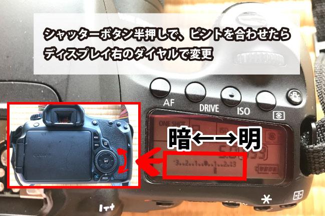 キヤノンEOS60D 露光調整の設定画面の写真