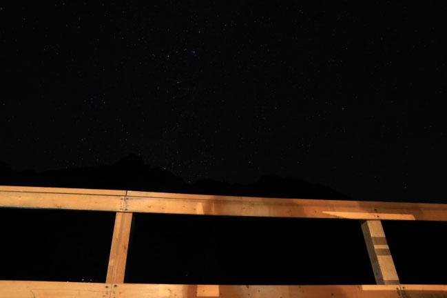 2020年9月涸沢ヒュッテから見た星空