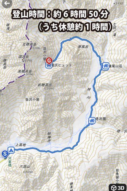 2020年9月登山 上高地から涸沢カールまでの登山コース