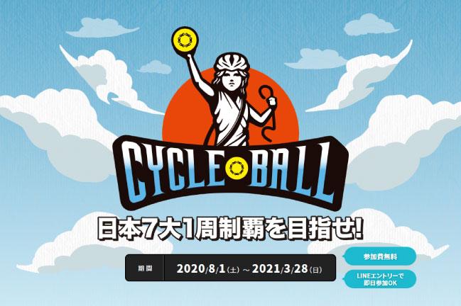 2020年8月~2021年3月開催のロードバイクイベント「サイクルボール」