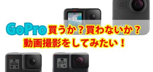 GoProを買うか買わないか。そこを悩みます。