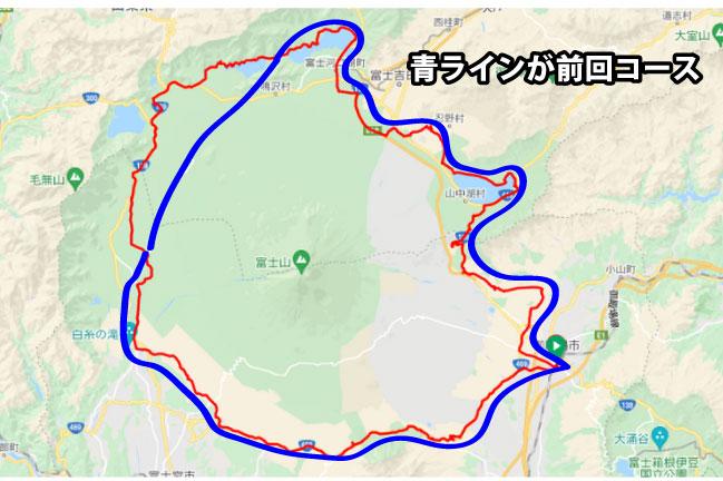 サイクルボール2のふじいちコースマップ