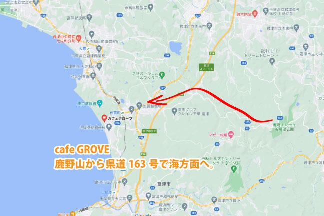 カフェGROVE地図