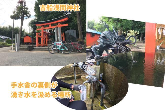 2021年9月の館山130kmライド。古船浅間神社の長命水