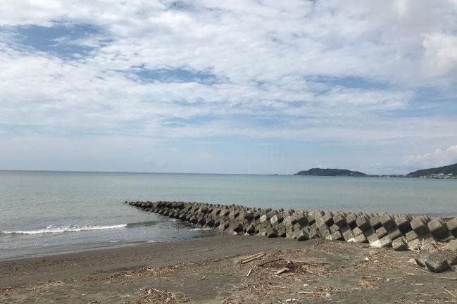 2021年9月の館山130kmライド。館山の海
